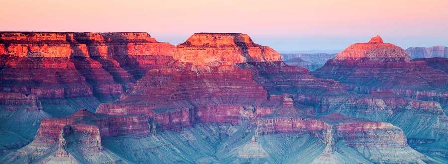 Canyon, pastel colours