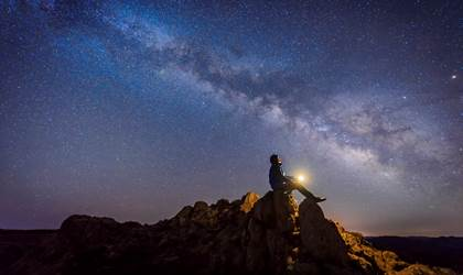 Skylight, Milky Way, Person