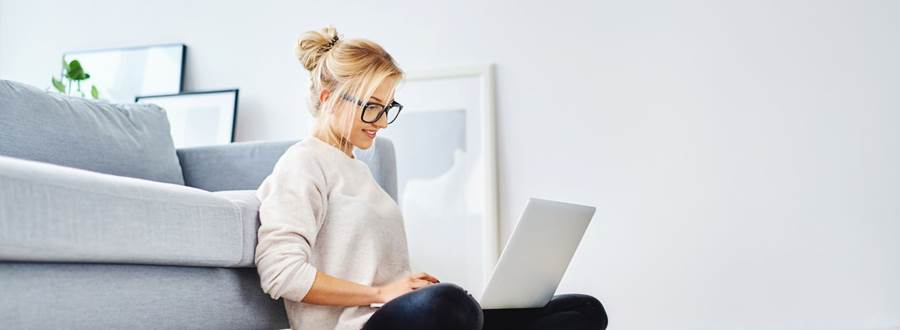 Lady On Laptop Casual Mortgages